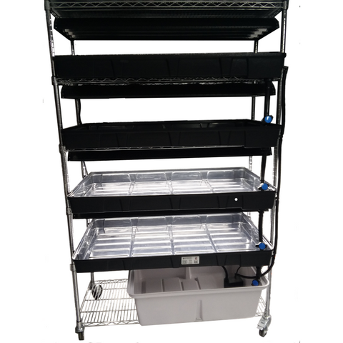 Commercial Micro-Greens LED Grow System, 4 Tier