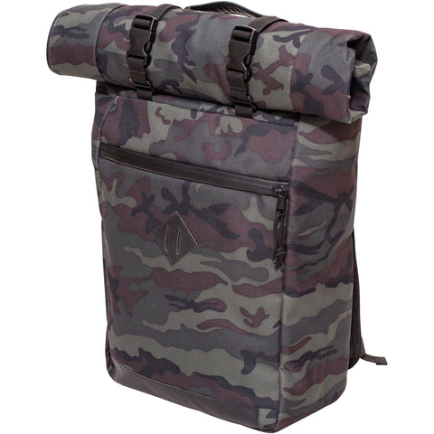 Abscent Scout Roll-Top Backpack, Black Forest