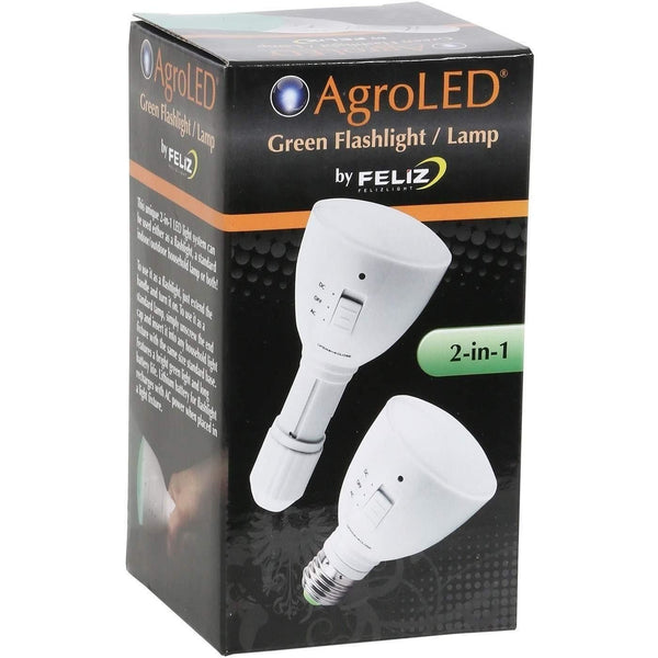 AgroLED® 4 Watt Green Flashlight/Lamp AC/DC Rechargeable