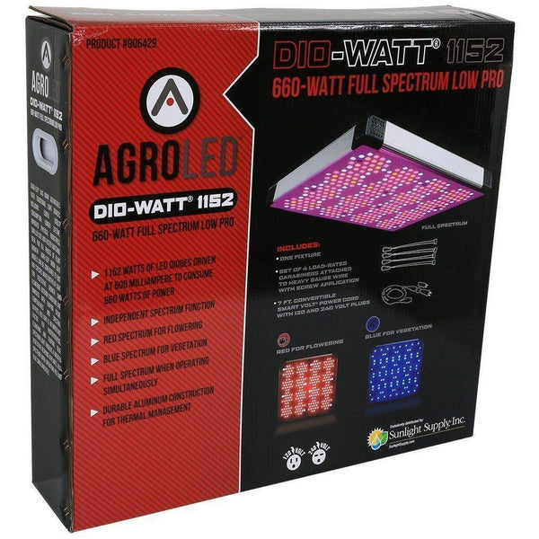 AgroLED® Dio-Watt™ 1152, 660W Full Spectrum Low Pro LED Grow Light
