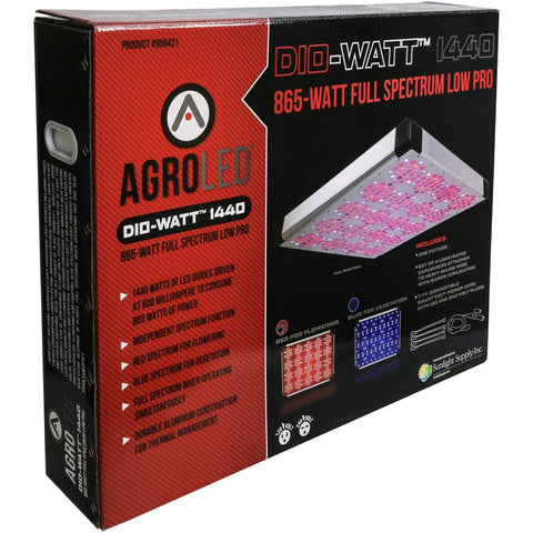 AgroLED® Dio-Watt™ 1440, 865W Full Spectrum Low Pro LED Grow Light