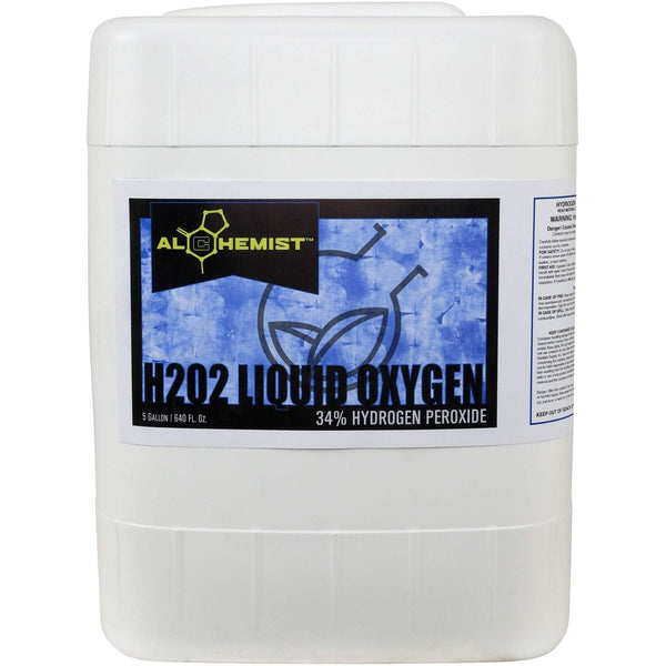 Alchemist H2O2 Liquid Oxygen 34% 5 Gal Hydroponics | Cleaners & Treatments