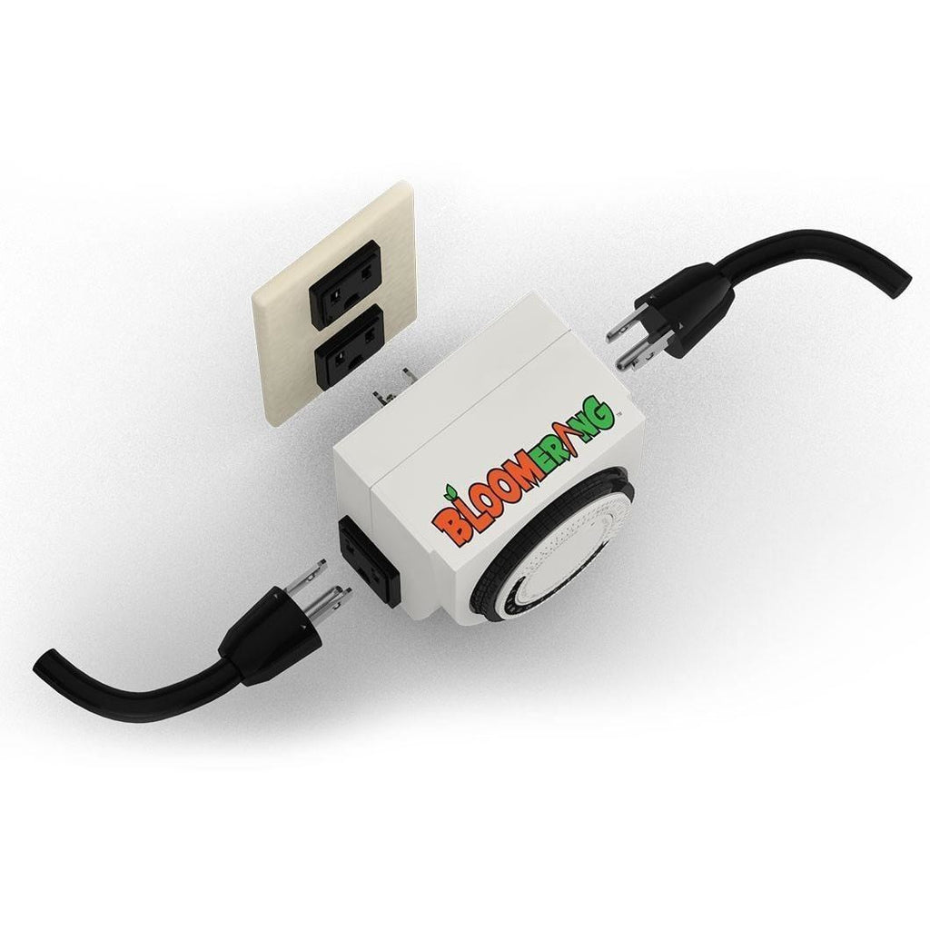 Analog Grow Room Timer - Dual Outlet Plug UL 120VAC 15amp
