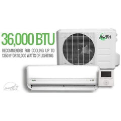 Aura Systems Mini Split 36,000 BTU 3 TON 16 SEER Air Conditioner w/ Heat Pump & External Thermostat