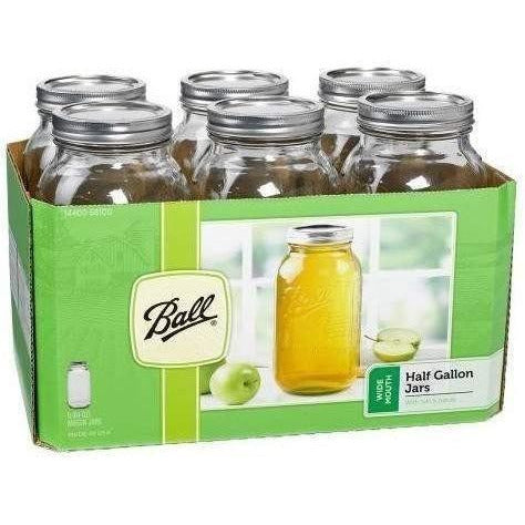 Ball® Jars Wide Mouth Half Gallon | Case Of 6 Harvest Food Storage