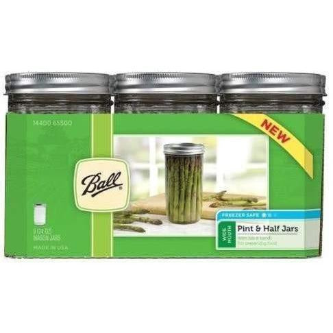 Ball® Jars Wide Mouth Pint & Half | Case Of 9 Harvest Food Storage