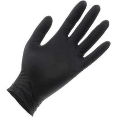 Black Lightning Powder Free Nitrile Gloves 6mil, Medium | Box of 100