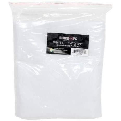 "Black Ops® Replacement Pre-Filter 14"" x 39"" White"