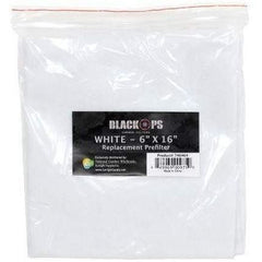 "Black Ops® Replacement Pre-Filter 6"" x 16"" White"