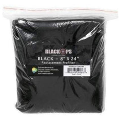 "Black Ops® Replacement Pre-Filter 8"" x 24"" Black"