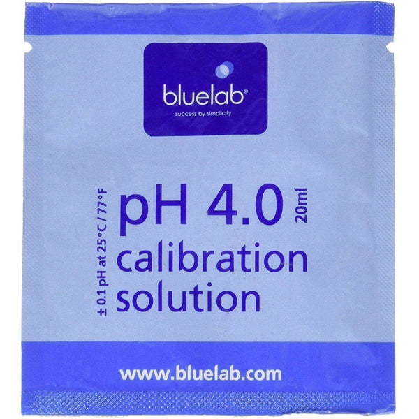Bluelab® Ph 4.0 Solution 20 Ml Sachet Meters | Calibration Solutions