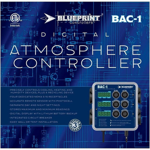 Blueprint Controllers® Digital Atmosphere Controller, BAC-1