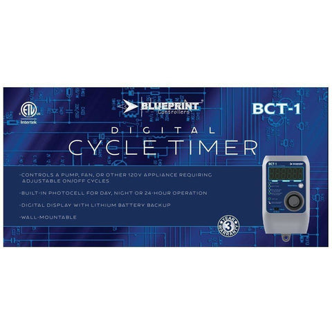Blueprint Controllers® Digital Cycle Timer, BCT-1