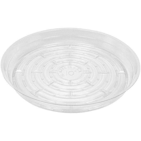 Clear Vinyl Saucer 10 Containers | Saucers