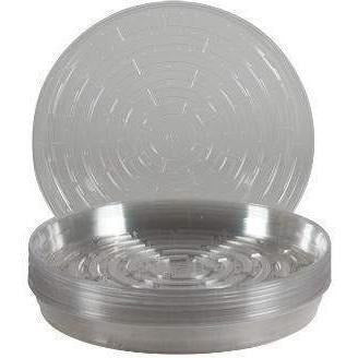 Clear Vinyl Saucer 12 Containers | Saucers