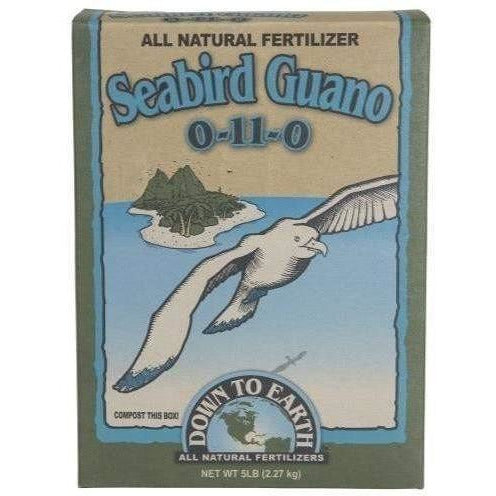 Down To Earth High Phosphorus Seabird Guano 5 Lb Nutrients | Granular & Powder