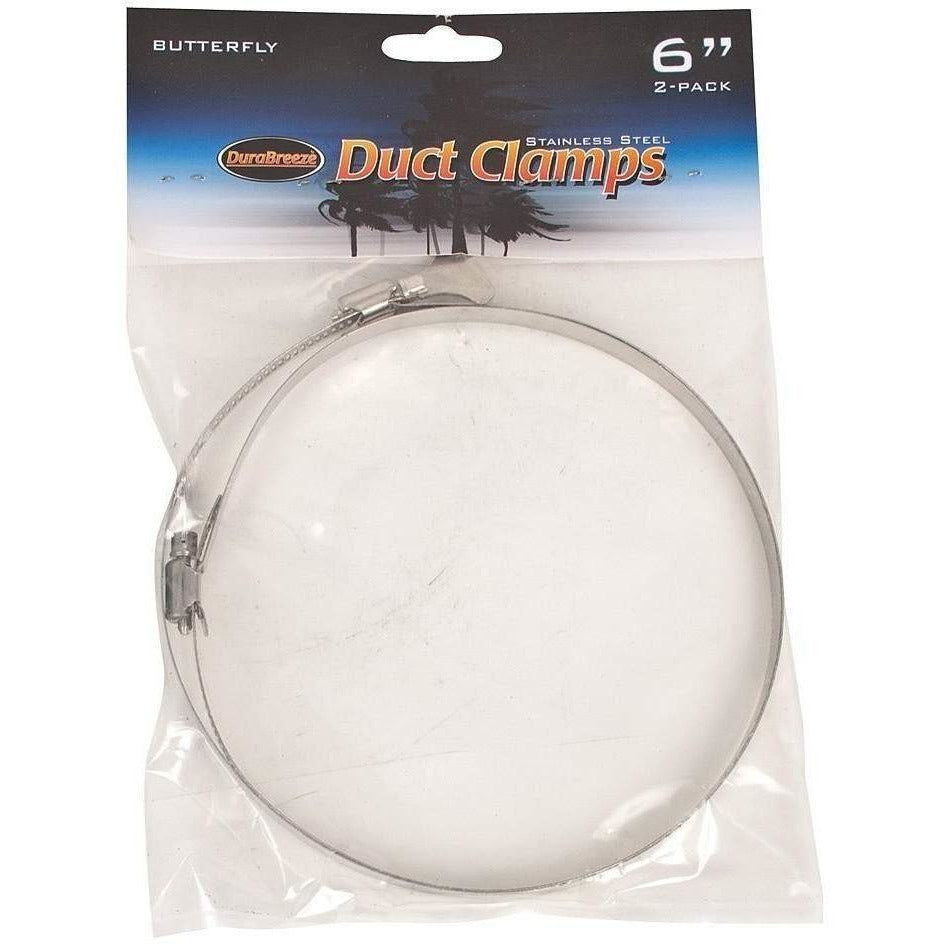 DuraBreeze® Butterfly Duct Clamp 6"