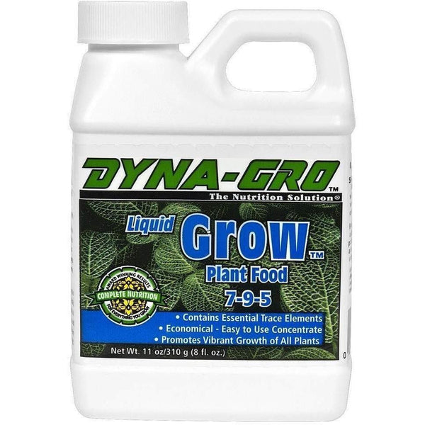 Dyna-Gro Liquid Grow 8 Oz Nutrients |
