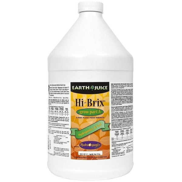 Earth Juice® Hi-Brix Grow (Part A) Gal Nutrients | Liquid