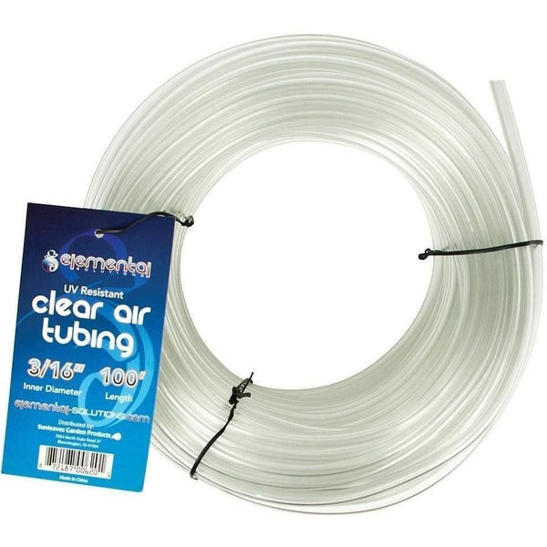 Elemental Solutions® O2 Clear Air Tubing 3/16 100 Water Aeration | Hose