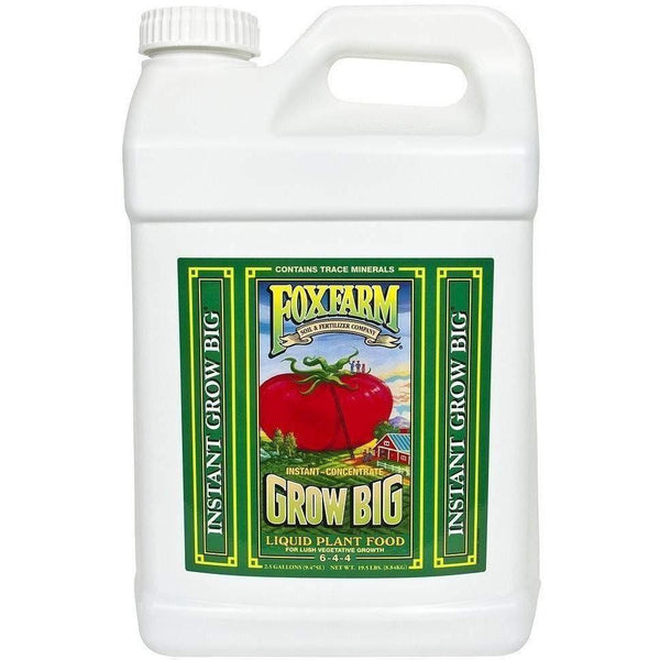 Foxfarm® Grow Big® Liquid Plant Food 2.5 Gal Nutrients |