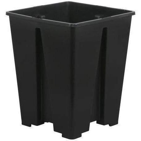 Gro Pro® Anti-Spiraling Black Plastic Square Pot 7 X 9 Containers | Shape