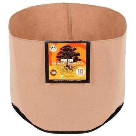 Gro Pro® Essential Round Fabric Pot Tan 45 Gal Containers | Grow Bags
