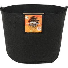 Gro Pro® Essential Round Fabric Pot with Handles Black, 20 gal