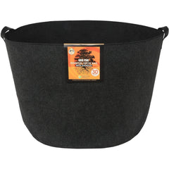 Gro Pro® Essential Round Fabric Pot with Handles Black, 30 gal
