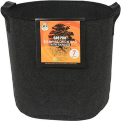 Gro Pro® Essential Round Fabric Pot with Handles Black, 7 gal