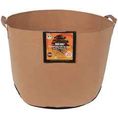Gro Pro® Essential Round Fabric Pot with Handles Tan, 20 gal