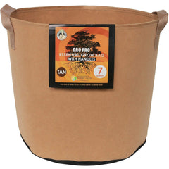 Gro Pro® Essential Round Fabric Pot with Handles Tan, 7 gal