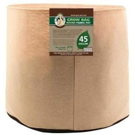 Gro Pro® Premium Round Fabric Pot Tan 45 Gal Containers | Grow Bags