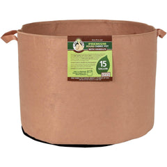 Gro Pro® Premium Round Fabric Pot with Handles Tan, 15 gal