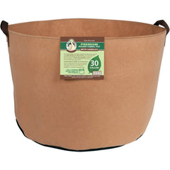 Gro Pro® Premium Round Fabric Pot with Handles Tan, 30 gal