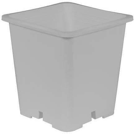 Gro Pro® Premium White Square Pot 9 X 10.5 Containers | Shape