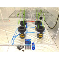 GROJI® SCROG 4 Plant DWC Hydroponics System | Deep Water Culture Bubbler Grow Buckets