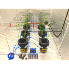 GROJI® SCROG 6 Plant DWC Hydroponics System | Deep Water Culture Bubbler Grow Buckets