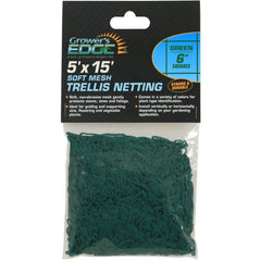 "Grower's Edge® Green Soft Mesh Trellis Netting, 5' x 15' with 6"" Squares"