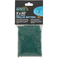 "Grower's Edge® Green Soft Mesh Trellis Netting, 5' x 30' with 6"" Squares"