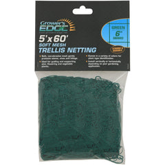 "Grower's Edge® Green Soft Mesh Trellis Netting, 5' x 60' with 6"" Squares"