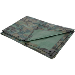 Grower's Edge® Heavy Duty Camo / Green Tarp, 10' x 10'