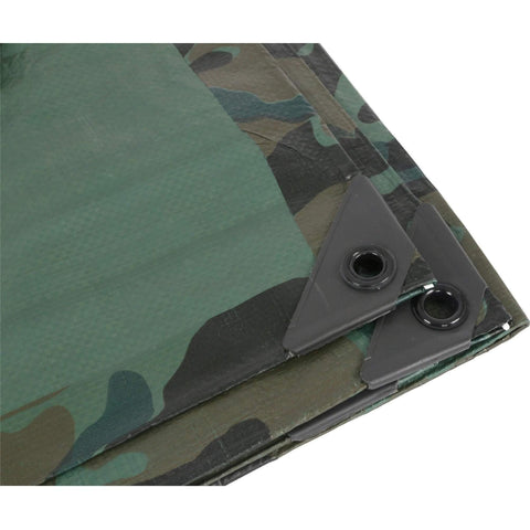 Grower's Edge® Heavy Duty Camo / Green Tarp, 6' x 8'