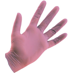 Grower's Edge® Pink Powder Free Nitrile Gloves 4 mil, Large | Box of 100