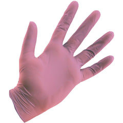 Grower's Edge® Pink Powder Free Nitrile Gloves 4 mil, Small | Box of 100