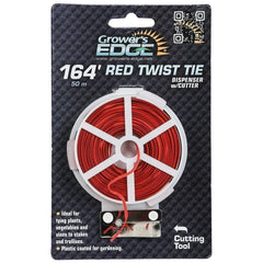 Grower's Edge® Red Twist Tie Dispenser with Cutter, 164'