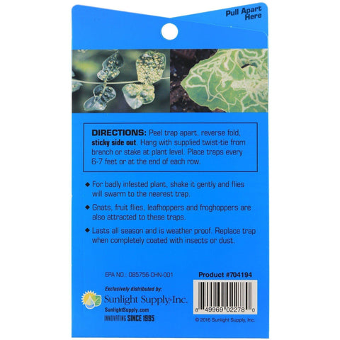 Grower's Edge® Sticky Thrip Leafminer Traps | Pack of 5