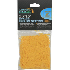 "Grower's Edge® Yellow Soft Mesh Trellis Netting, 5' x 15' with 6"" Squares"