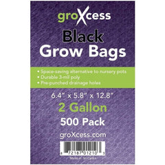 GroXcess® Black Grow Bags, 2 gal | Pack of 500