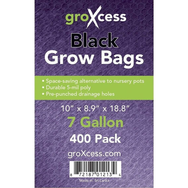 Groxcess® Black Grow Bags 7 Gal | Pack Of 400 Containers Plastic